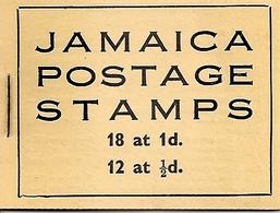 JAMAICA, 1951, Booklet 13, 2/- Mi 119, 121, Work B8 - Jamaica (1962-...)