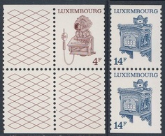 Luxemburg Luxembourg 1991 Mi 1281 /2 YT 1232 /3 ** Pult-telephone + Postbox / Briefkasten - Postal Museum, Luxembourg - Post