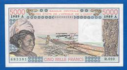 Cote  D'ivoire  5.000 Fr Neuf - Ivoorkust