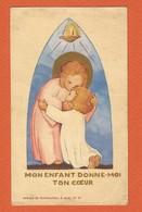 Image Pieuse Holy Card Santini - Illustration Enfantine - Catéchisme - Abbaye De FAREMOUTIERS N° 24 - Devotieprenten