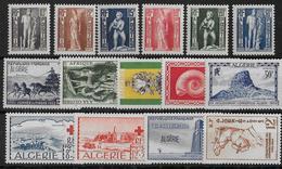 ALGERIE - ANNEE 1952 COMPLETE ** - SANS CHARNIERE - COTE = 44.4 EUR. - Algérie (1924-1962)
