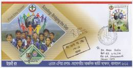 Bangladesh 2012 Asia Pacific SCOUT Conference 1v Regd FDC Scoutism Scoutisme RRR - Unclassified