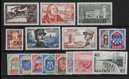 ALGERIE - ANNEE 1956 COMPLETE ** - SANS CHARNIERE - COTE = 24.4 EUR. - Algérie (1924-1962)