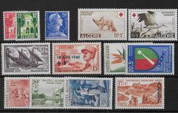 ALGERIE - ANNEE 1957/1958 COMPLETES SAUF 353 ** - SANS CHARNIERE - COTE = 66.7 EUR. - Algérie (1924-1962)