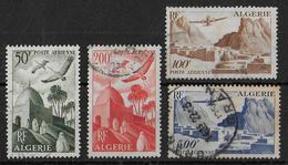 ALGERIE - YT N° 9/12 OBLITERES  - POSTE AERIENNE - COTE = 28 EUR. - Algérie (1924-1962)