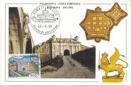 ITALIA - FDC MAXIMUM CARD 1993 - TURISMO - PALMANOVA - Maximum Cards