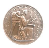 Medaille, ITALIE,1 E Centenario Delle Poste Italiane Par Pagani, 1962 , San Gabriele Patrono,  2 Scans ,frais Fr 2.85 E - Professionals/Firms