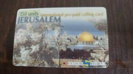 Palestine-al Aqsa Tower Jerusalem-(2)-mint+1card Prepiad Free - Palestine