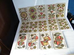 MONDOSORPRESA, RARO MAZZO DI 78 CARTE ANNO 1890, TAROCCHI TORINESI, VIASSONE ALESSANDRO - Tarot-Karten