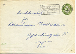 Denmark Postal Stationery Cover 71 10 Ore Green  Copenhagen 6-10-1949 - Entiers Postaux