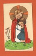 Image Pieuse Holy Card Santini - Souvenir De Première Communion - Brigitte TAVERNIER - AIX EN PROVENCE - 1964 - Devotieprenten