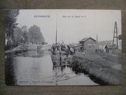 Cpa Ruysbroeck Ruisbroek Sint-Pieters-Leeuw - Vue Sur Le Canal N°3 - Péniche Gare Station - Imprimerie Kuypers 1908 - Sint-Pieters-Leeuw