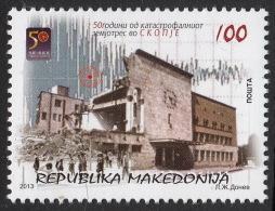 Macedonia 2013 - 50 Years Of The Earthquake In Skopje, Architecture, MNH - Macédoine
