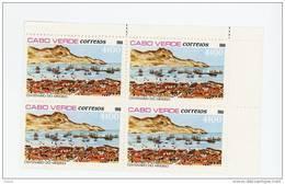 Cap Vert-Cabo Verde-1980-Centenaire De Mindelo-Bateaux-1 Valeur X 4***MNH - Cape Verde