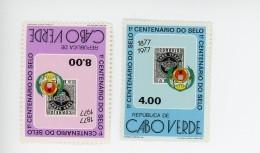 Cap Vert-Cabo Verde-1977-Centenaire Du 1er Timbre Poste-YT 393/4***MNH - Cape Verde