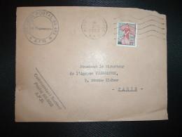 DEVANT TP MARIANNE A LA NEF 25 F OBL.MEC.3-12 1959 POSTE AUX ARMEES A.F.N. SECTEUR POSTAL 88.692 AFN + Commandant SP 88. - Guerre D'Algérie