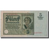 Billet, Allemagne, 5 Rentenmark, 1926, 1926-01-02, KM:169, TTB - [ 3] 1918-1933 : Repubblica  Di Weimar