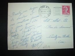 CP LANDAU TP MARIANNE DE MULLER 15F OBL.MEC.28.8.56 POSTE AUX ARMEES - Marcophilie (Lettres)