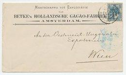 Firma Envelop Amsterdam 1900 - Cacao Fabriek - Period 1891-1948 (Wilhelmina)