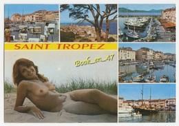 {71086} 83 Var Saint Tropez , Multivues ; Divers Aspects , Femme Seins Nus - Saint-Tropez