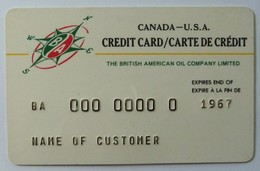 CANADA - Oil Credit Card - Sample - Exp 1967 - BA - Gulf - Geldkarten (Ablauf Min. 10 Jahre)