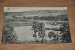 1017-  Bomal S/O.   L'Ourthe Le Pont Du Chemin De Fer Et Les Villas - Durbuy