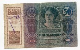 Serbie Serbia Ovp Austria Hungary Overprint  50 Kronen / Korona 1914 #2 - Serbie