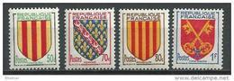 """FR YT 1044 à 1047 """" Armoiries Des Provinces """" 1955 Neuf** - Ungebraucht"""
