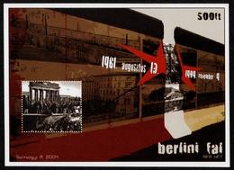 WALL Berlin 1961 1989 Hungary Philatelist Memorial Sheet Without Gum Brandenburg DDR Germany Communist Red Star Cold War - Autres