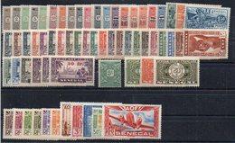 Sénégal : Lot, Collection De 64 Timbres Neufs ** Ou * Différents - Cote 65,65€ - France (ex-colonies & Protectorats)