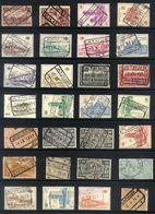 Y35 - Belgium - Railway Parcel Stamps - Used Lot - Chemins De Fer