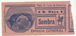 Ticket  Corrida Plaza De Toros De Valencia - Biglietti D'ingresso