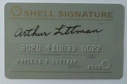 USA - Oil Credit Card - Shell Signature - Exp 0988 - Geldkarten (Ablauf Min. 10 Jahre)