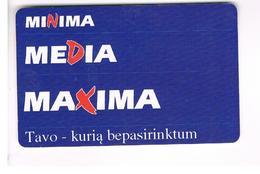 LITUANIA (LITHUANIA) -  1999  MINIMA, MEDIA, MAXIMA - USED - RIF. 10723 - Lituania