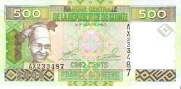 Guinea - Pick 39a - 500 Francs 2006 - Unc - Guinea