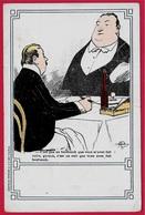 CHROMO Illustrateur Albert GUILLAUME Satirique Humour - PUB Publicité Publicitaire Dentiste 75001 * Restaurant Viande - Trade Cards