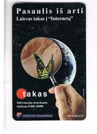 LITUANIA (LITHUANIA) -  1999  TAKAS, BUTTERFLY  - USED - RIF. 10727 - Lithuania