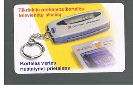 LITUANIA (LITHUANIA) -  1999  CARD TESTER  - USED - RIF. 10729 - Lituania