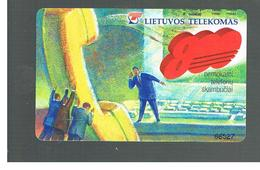 LITUANIA (LITHUANIA) -  1999  GREEN NUMBER 800  - USED - RIF. 10731 - Lithuania