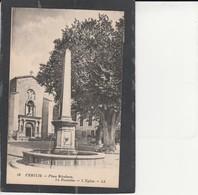 84  PERTUIS - Place Mirabeau, La Fontaine, L'Eglise - Pertuis