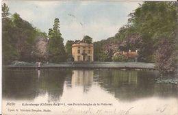 MELLE  KALVERHAEGE CHATEAU L Van Pottelsberghe De La Potterie  1048/ D3 Goudopdruk 1906 Stempel - Melle