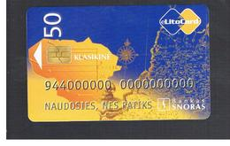 LITUANIA (LITHUANIA) -  2000 SNORAS BANK  - USED - RIF. 10739 - Lituania