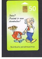 LITUANIA (LITHUANIA) -  2000 CALL FORWARDING, CARTOON    - USED - RIF. 10739 - Lithuania