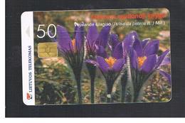 LITUANIA (LITHUANIA) -  2000  FLOWERS: PULSATILLA PATENS    - USED - RIF. 10740 - Lithuania