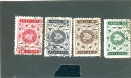 1956 FORMOSE & T N° 202 à 205 ( O ) Service Postal - 1945-... Republiek China