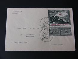 ENVELOPPE AFFRANCHIE LEGION DES VOLONTAIRES FRANCAIS OSTFRONT 1942 Avec Destinataire - Marcophilie (Lettres)
