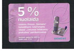 LITUANIA (LITHUANIA) -  2001 SIEMENS PHONE   - USED - RIF. 10743 - Lituania