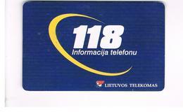 LITUANIA (LITHUANIA) -  2001 INFORMATION TO 118    - USED - RIF. 10743 - Lituania