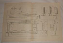 Plan De L'usine à Gaz De Vevey. Canton De Vaud. Suisse.1864 - Travaux Publics
