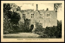 CP   Berneau   ---    Château Longchamps  --  Détruit Par Les Boches En 1914 - Dalhem